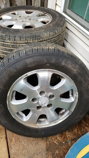 225/60/16=4 tires and rims for Sale in Ashburn, VA