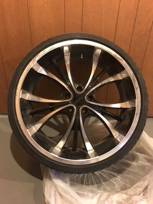 """22"""" Black and Machine Arch Rims and Tires for Sale in Hazelwood, MO"""