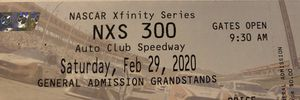 4 NASCAR xfinity series NXS 300 auto club speedway tickets $100.00 for the four for Sale in Fontana, CA