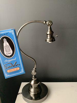Industrial Dark Stainless Steel Table Lamp for Sale in Long Beach, CA