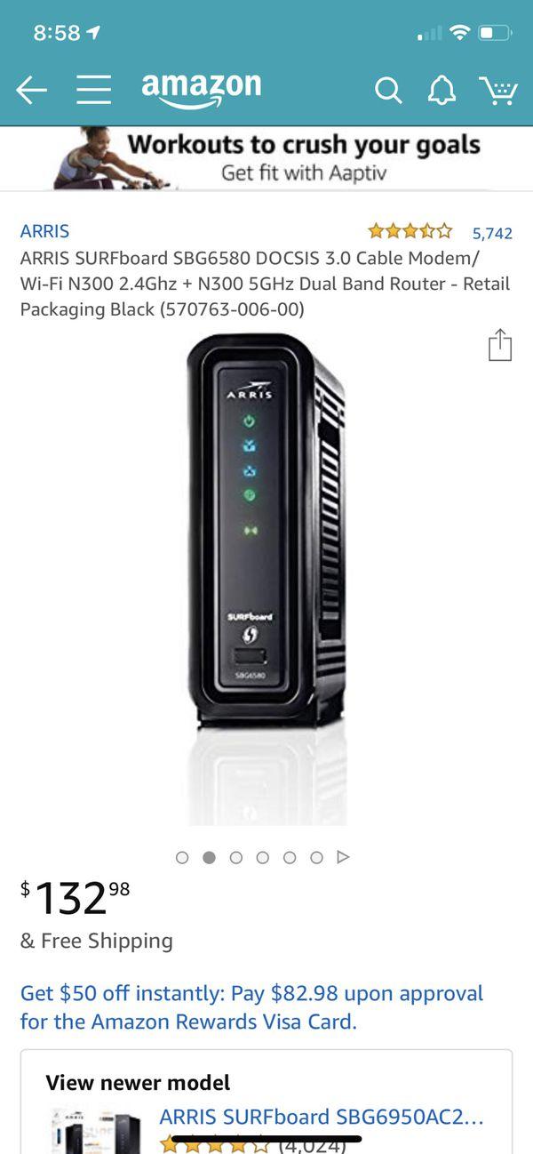 Motorola cable modem & WiFi Router SBG6580