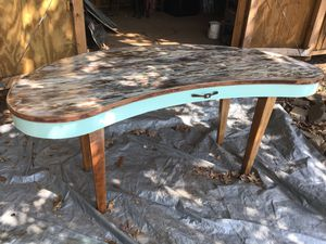 Large Hand Painted Kidney Shaped Desk for Sale in Macon, GA