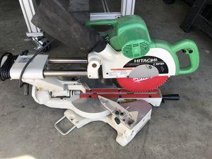 "Hitachi sliding compound miter saw with laser-10"" blade for Sale in Murrieta, CA"