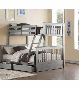 Twin/Full Bunk Bed w/2 Drawers - 37755 - Gray PC for Sale in Ontario, CA