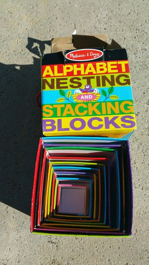 Melissa and Doug stacking blocks for Sale in Moreno Valley, CA