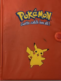 Pokemon VINTAGE RED PIKACHU CARD 4 Pocket ALBUM BINDER for Sale in Pflugerville,  TX
