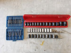 "1/2"" Dr. Socket set w/screwdriver bit kit for Sale in Cape Coral, FL"