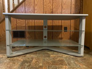 TV Stand Metal and Glass for Sale in Allison Park, PA
