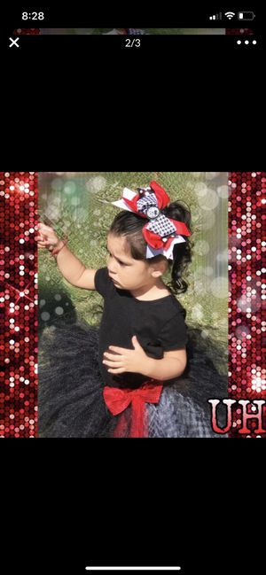 Halloween costume Hello kitty adjustable tutu and hair bow . Hand made for Sale in Norwalk, CA