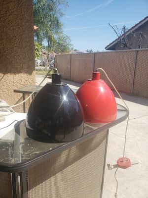 2 pendant lights black and red for Sale in Fresno, CA