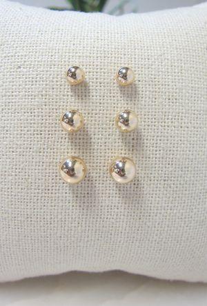 14k gold ball earrings for Sale in Hobe Sound, FL