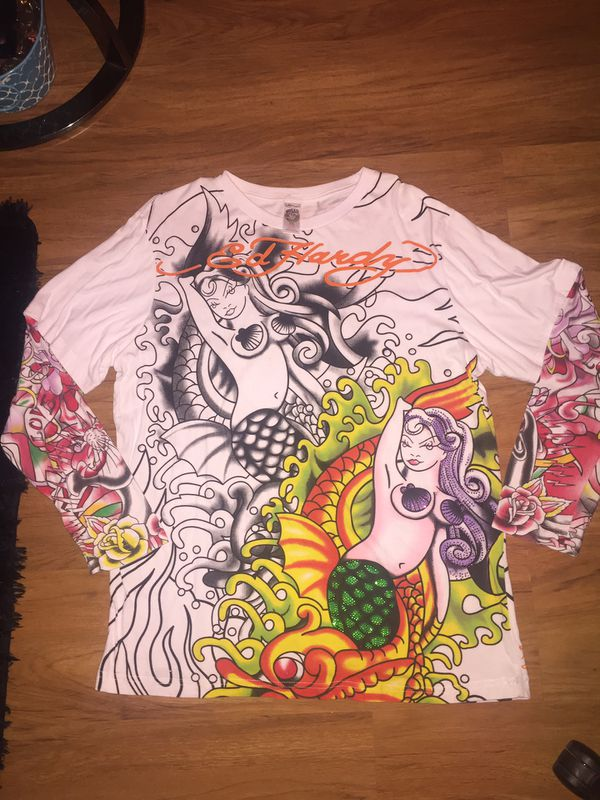 Ed Hardy Vintage Graphic Long Sleeve T Shirt
