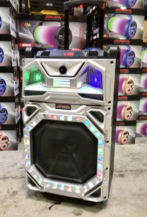 Speaker Bluetooth,radio,1🎤karaoke,recargable para la playa😎,USB,AUX,ecualizador,luz LD for Sale in Miami Springs, FL