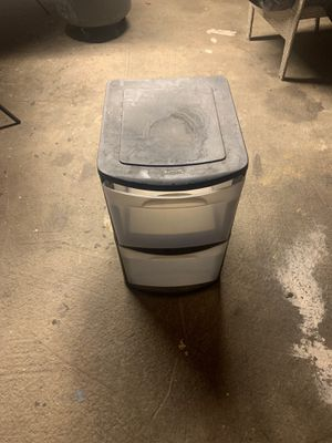2 drawer plastic storage bin for Sale in Long Beach, CA