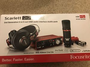 Scarlett 2i2 audio interface (open box) brand new for Sale in Gaithersburg, MD