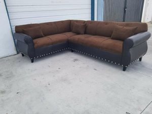 NEW 7X9FT CHOCOLATE MICROFIBER COMBO SECTIONAL COUCHES for Sale in Fontana, CA