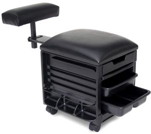 SALON PEDICURE STOOL, SEAT W/ADJUSTABLE FOOTREST for Sale in Homestead, FL