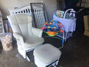 Baby Crib, Bassinet, Glider for Sale in Tampa, FL