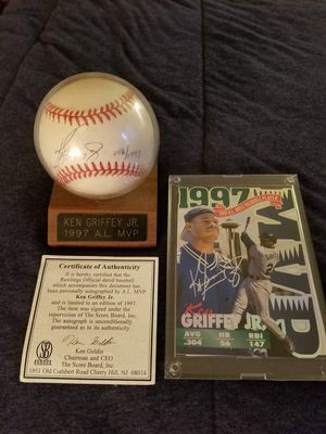 1997 mvp ken griffey Jr. Autographed baseball for Sale in Bath, NY