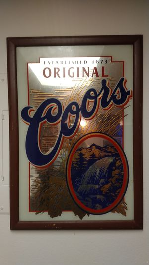 Antique Coors bar mirror very old for Sale in Pinellas Park, FL