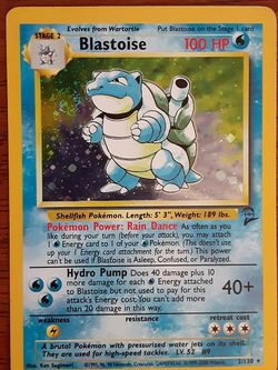 Pokemon Base Set 2 Blastoise 2/130 SWIRL Not Mint for Sale in Portland,  OR