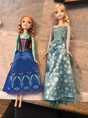 Elsa and Anna Barbie dolls for Sale in Alexandria, VA