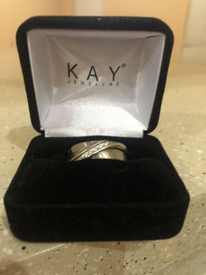 White Gold and Diamonds Men wedding ring for Sale in Cape Coral, FL