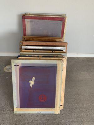 Single color screen printer, screens, plantons, uv box for Sale in Monahans, TX