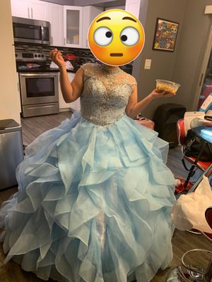 15s Quinceañera dress baby blue for Sale in Carol City, FL