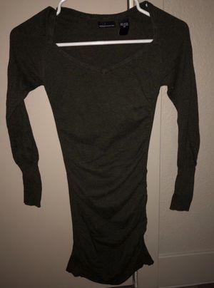 """NWOT """"MODA INTERNATIONAL"""" LONG SLEEVE DARK GRAY TUNIC/ DRESS for Sale in Denver, CO"""