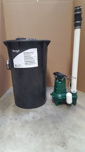 "Zoeller 2""Pump, Sewage Basin , Cover, Pipe, Check Valve for Sale in Wood Dale, IL"
