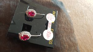 2 Ct Ruby and Diamond Accent Earrings for Sale in Colorado Springs, CO
