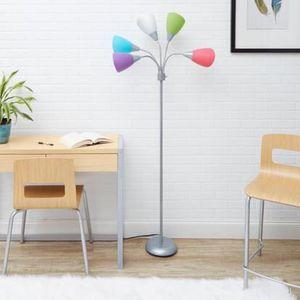 5-Light Multi Head Floor Lamp, Silver with Multicolor Shade for Sale in Miramar, FL