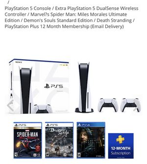 Playstation 5 Bundle dm for more info for Sale in Redford Charter Township, MI