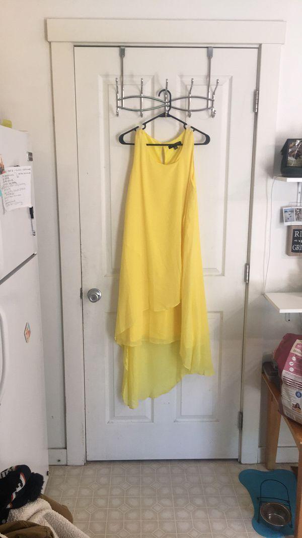 High low yellow dress 12