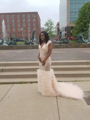 Champagne Color Prom Dress for Sale in St. Louis, MO