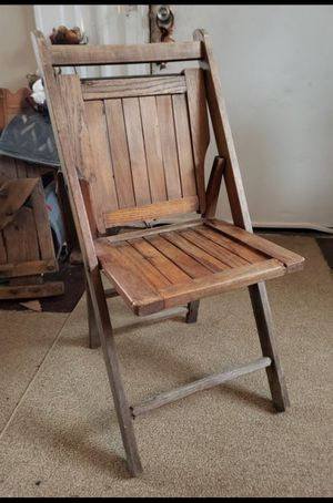 Antique wood folding chair CHRISTMAS SALE 20% OFF EVERYTHING IN STOCK NOW UNTIL CHRISTMAS for Sale in Columbus, OH