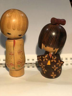 Wooden kokeshi dolls for Sale in Manteca, CA