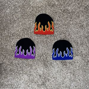 Flames red / purple / blue fire beanies for Sale in Tustin, CA
