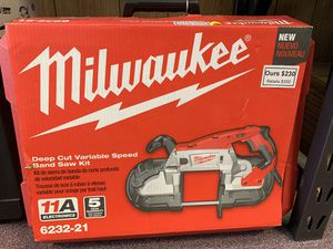New Milwaukee Corded Deep Cut Band Saw. 6232-21 for Sale in Waltham, MA
