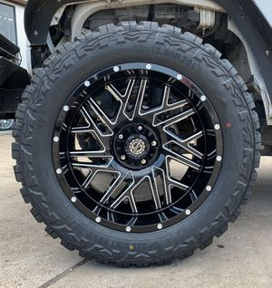 20x10 off road wheels tires deal for Sale in Houston, TX