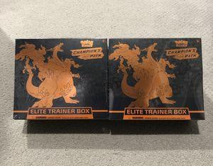 2 x Champions Path Pokemon Elite Trainer Box for Sale in VA, US