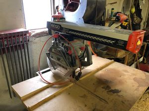 RIGID Radial Arm Saw for Sale in Marion, MI