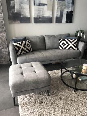"""Mid Century Modern 86"""" Sofa + Ottoman for Sale in Miami, FL"""