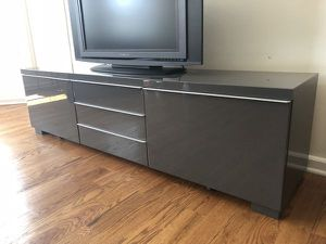 IKEA Besta Bur High Gloss entertainment center for Sale in Vancouver, WA