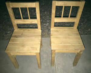 Pair of Kids Wood Chairs for Sale in Phoenix, AZ