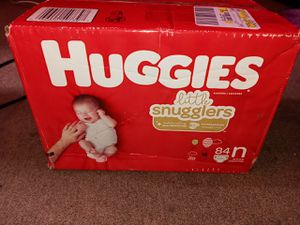 Newborn huggies diapers for Sale in New York, NY