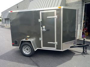 BRAND NEW 5X8 ENCLOSED VNOSE TRAILER--MOTORCYCLE LAWN MOWER ATV UTV QUAD SNOWMOBILE BUSINESS STORAGE MOVING for Sale in Freehold, NJ