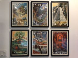 Lord of the Rings Vintage Fantasy Framed 6 Poster set 11 x 17 for Sale in Graham, WA