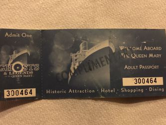 Queen Mary Ghosts And Legends Adult Pass for Sale in Long Beach,  CA